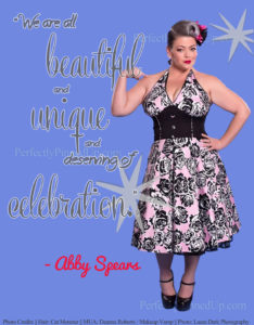Perfect Pinup Abby Kadabby Advocates Kindness