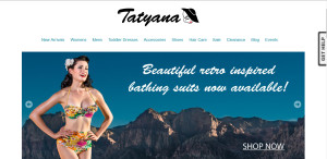 Swimwear promo for Tatyana.com; photo credit: Mark Greenmantle Photography.
