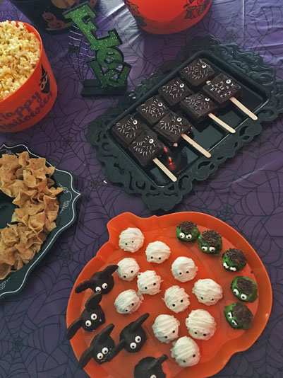 Don't forget to fill your table with delicious, creepy treats!